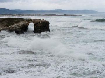 Estado del mar en la Playa de las Catedrales