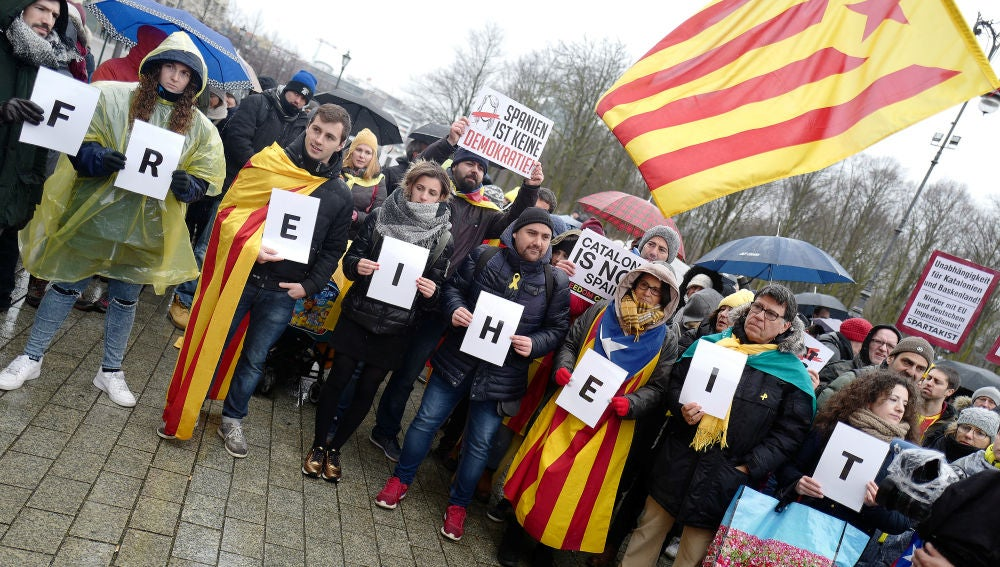 Manifestación por Puigdemont en Berlín