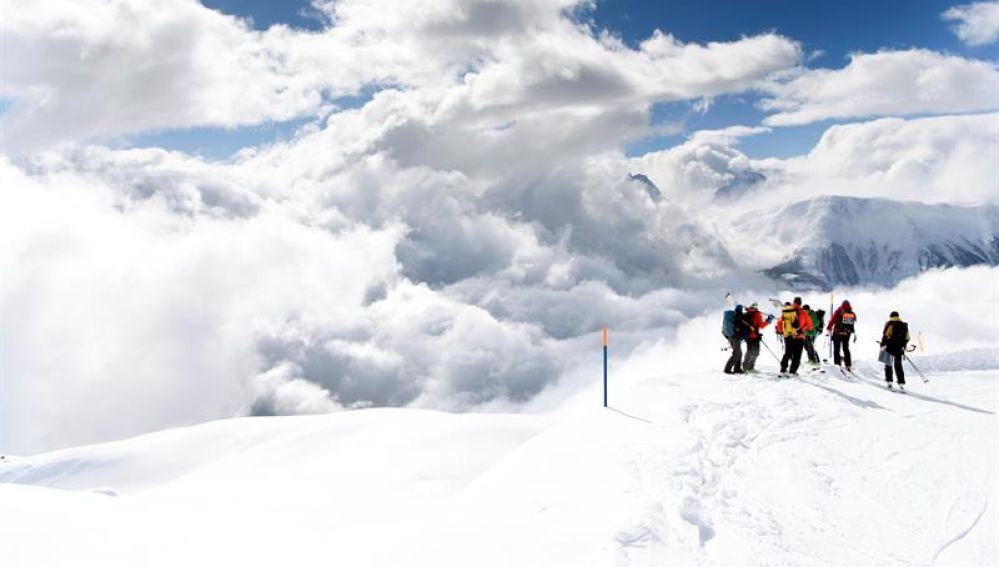 Avalancha en el cantón suizo de Valais