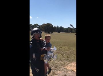 El pequeño James tras ser rescatado