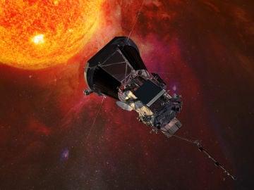Representación artística de la sonda Parker Solar Probe