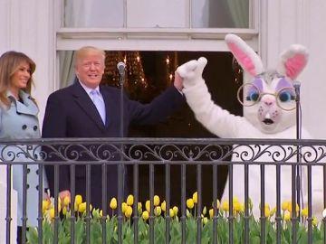 Trump aprovecha la tradicional carrera de los huevos de Pascua para destacar la buena marcha económica de EEUU