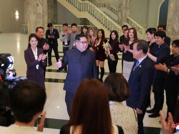Kim Jong-un en el concierto