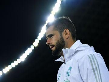 Nacho, en un partido del Real Madrid