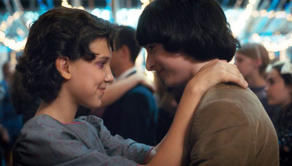 Eleven y Mike en 'Stranger Things'