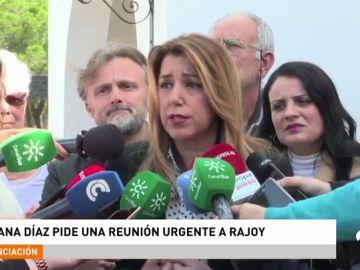 Susana Díaz pide una reunión urgente con Mariano Rajoy para abordar el acuerdo del Parlamento andaluz sobre financiación autonómica
