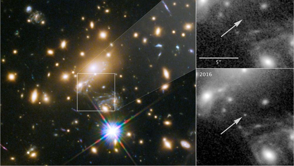 Hubble descubre la estrella más lejana jamás vista
