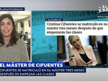 """La periodista Raquel Ejerique: """"Cifuentes se incorpora con el curso prácticamente a la mitad, habían pasado ya tres meses"""""""