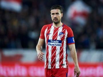 Gabi, durante un partido con el Atlético de Madrid