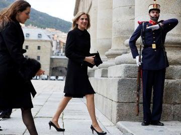 La Infanta Cristina a su llegada a El Escorial