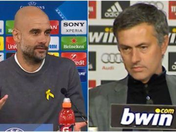 Reacciones de Guardiola y Mourinho tras un derrota