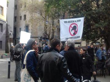 Protesta contra los narcopisos