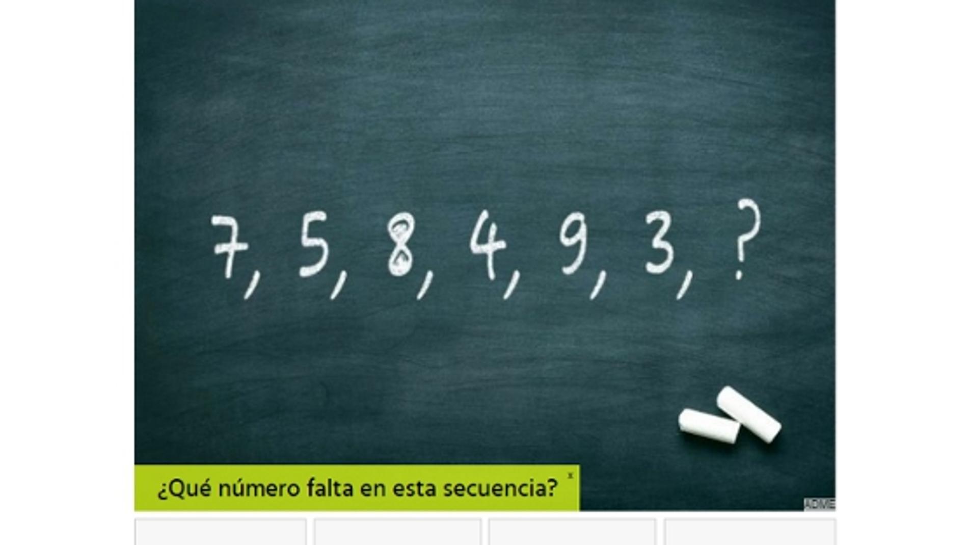 Test matemáticas