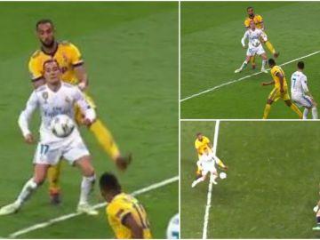 La jugada del penalti a Lucas, desde todos los ángulos
