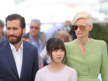 El reparto de 'Okja' en la pasada edición del Festival de Cannes