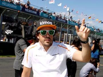 Fernando Alonso, antes del GP de Baréin