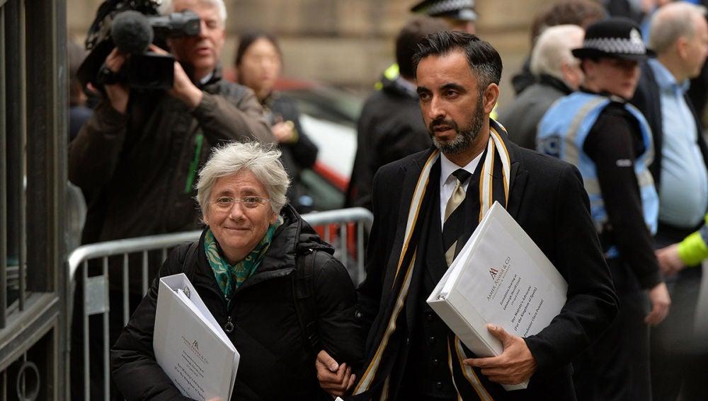 Clara Ponsatí a su llegada a un tribunal de Edimburgo