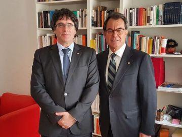Artur Mas con Carles Puigdemont en Berlín.