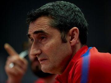 Ernesto Valverde, en rueda de de prensa