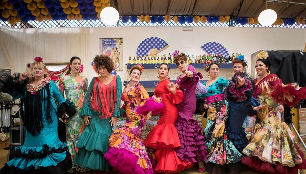 Las protagonistas de 'Allí Abajo' en la Feria de Abril