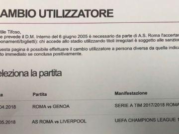 La Roma vendía entradas contra el Liverpool antes del sorteo