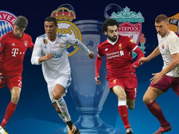 Bayern-Madrid y Liverpool-Roma