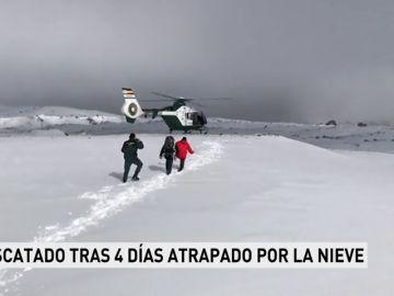 La Guardia Civil rescata a un senderista tras estar atrapado cuatro días por la nieve