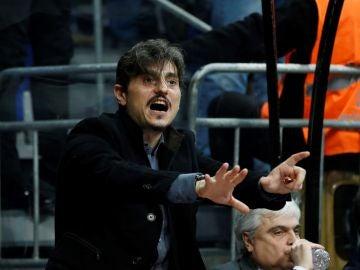 Giannakopoulos, durante un partido del Panathinaikos