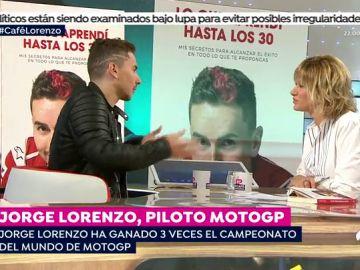 """Jorge Lorenzo, en 'Espejo Público', sobre Márquez y Rossi: """"Creo que el culpable ha sido el árbitro"""""""