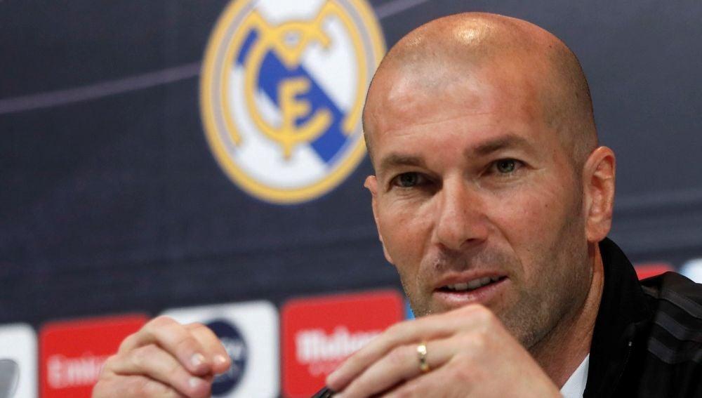Zinedine Zidane, en rueda de prensa