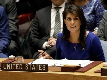 La embajadora de EEUU en la ONU,  Nikki Haley