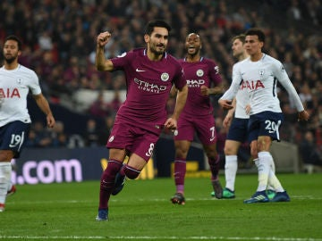 Gundogan celebra su gol ante el Tottenham