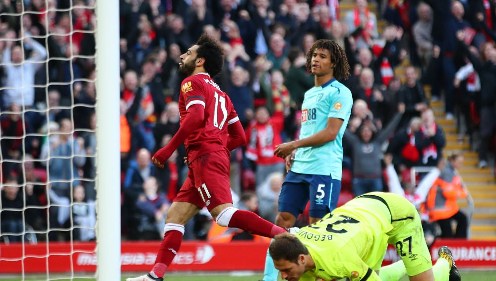 Salah anota ante el Bournemouth