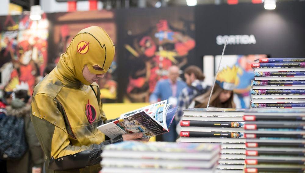 Uno de los asistentes al Salón del Cómic de Barcelona