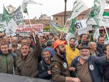 Manifestación de cazadores en Extremadura