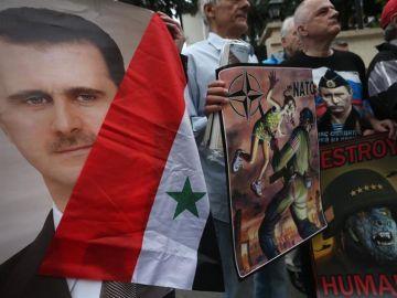 Afines a Al Asad protestan contra EEUU
