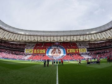 El primer tifo en la historia del Wanda Metropolitano