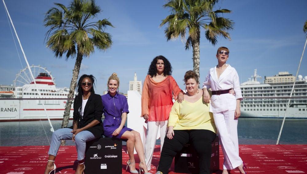 Las protagonistas de 'Vis a vis' en el Festival de Málaga