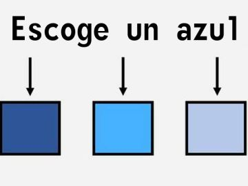 Escoge un azul