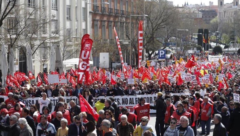 Manifestación de UGT en Madrid