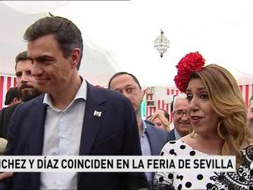 Susana Díaz y Pedro Sánchez se reencuentran en la Feria de Abril de Sevilla