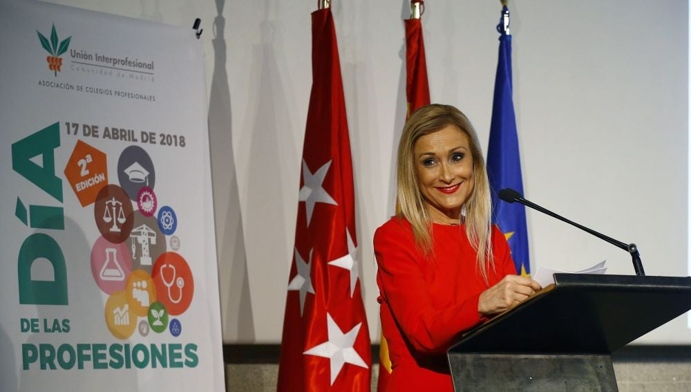 La presidenta madrileña, Cristina Cifuentes