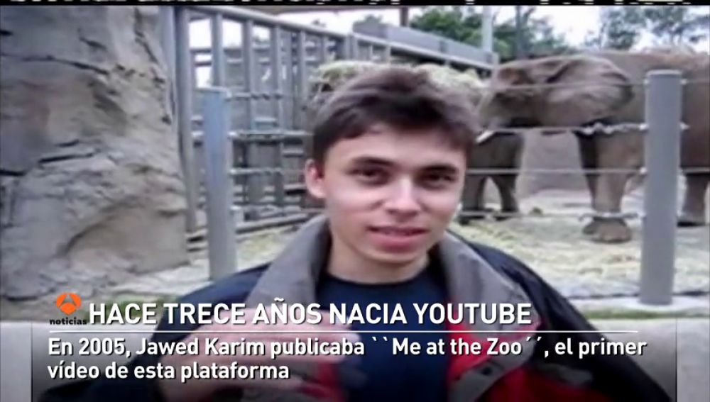 Jawed Karim hacía historia publicando el primer video de YouTube