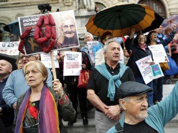 Manifestaciones de pensionistas en el País Vasco