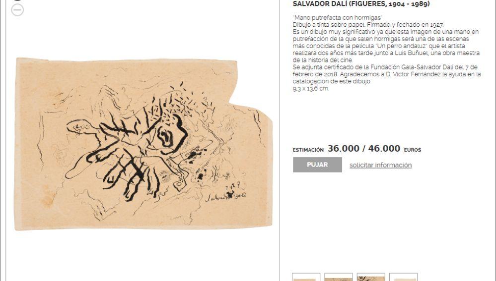 'Mano putrefacta con hormigas', de Salvador Dalí