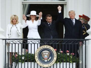 Donald trump recibe a Emmnanuel Macron