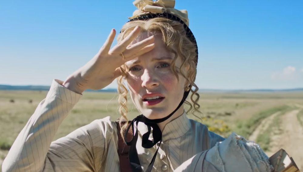 Jessica Chastain en 'Woman Walks Ahead'