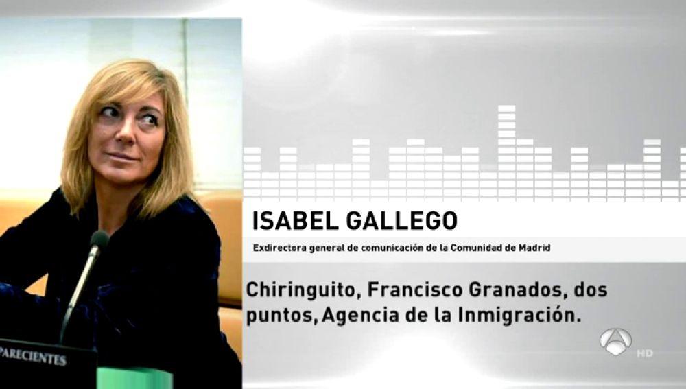 Isabel Gallego, responsable de comunicación de Esperanza Aguirre