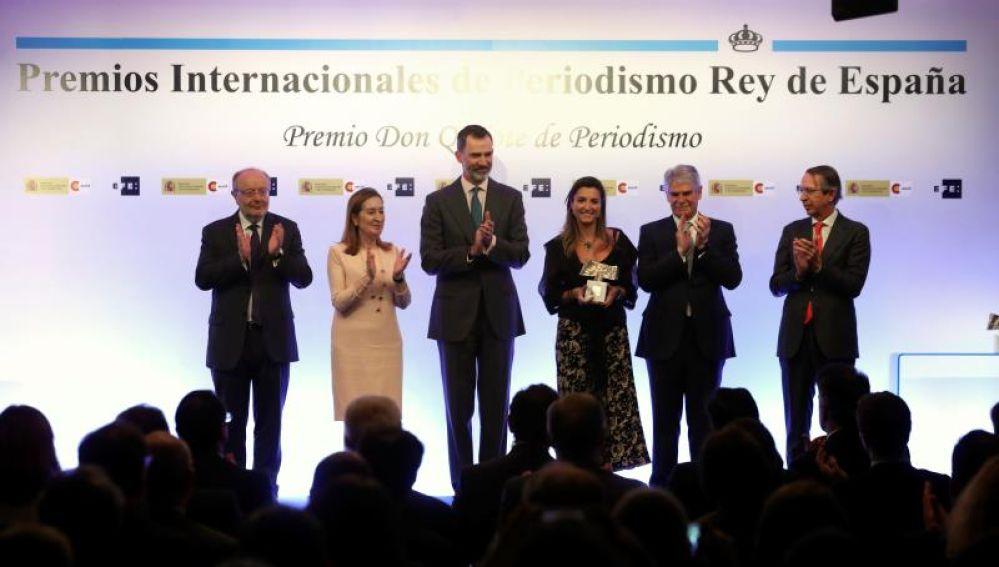 Felipe VI en l aentrega de Premios Internacionales de Periodismo Rey de España