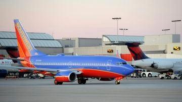 Avión de la compañía Southwest Airlines